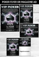 POKER MAGAZINE AD OR FLYER TEMPLATE by Hotpindesigns
