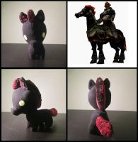 Ganondorf's horse plush from Zelda Ocarina of time by Miss-Zeldette