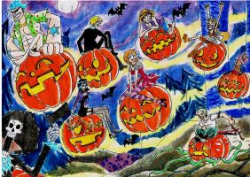 one piece, halloween by heivais