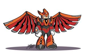 Commission: Lord Phoenix Of The Reploids by R-Legend