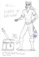 PIRATE RACCOON XD by SonicHomeboy