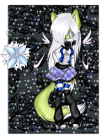 .:Flora the Snow Magic Wolf:. by SilvFlora97