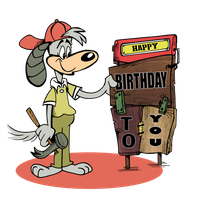 Birthday sign by Granitoons