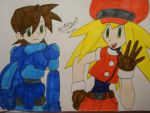 Megaman legends Rock and Roll by Kayarobothedgehog