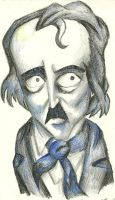 Edgar Allan Poe in Crayon by Holllywood