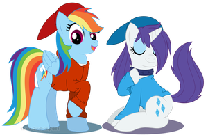 Hoodie Friends by MintyStitch