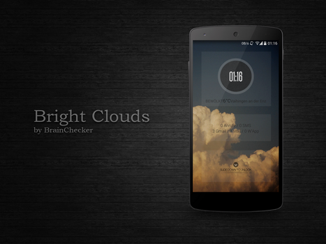 Bright Clouds Android Lockscreen by BrainChecker
