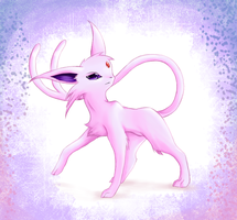 Espeon by Psunna