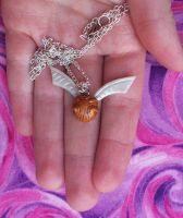 Golden Snitch Necklace by CraftMagic