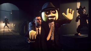 Gold Chica Threatens Capo Larry by MovieMowDown