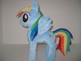 Custom pony plush - Rainbow Dash Fan Art by GreenTeaCreations