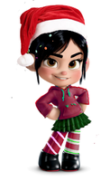Christmas Vanellope by SchweetGlitch