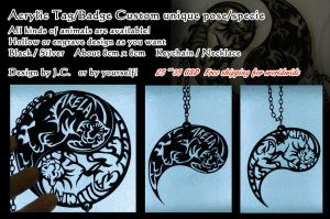 Acrylic Tag/Badge- custom your own kind by J-C