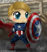 Chibi Captain America - Steve Rogers by Isi-Daddy