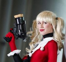 Harley Gun and Wig by gillykins