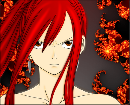 :ID: Colored Erza lineart by FT-Associate-Erza