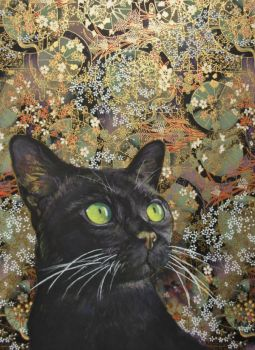 Emerald Eyes - PAINTING by AstridBruning
