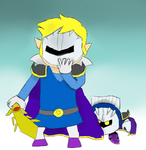 Toon Link and Meta Knight by tsvlink25