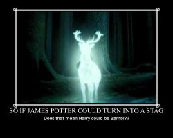 If James Potter Could Turn Into A Stag . . . by BFTLandMWandSEK