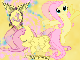 Fluttershy wallpaper by NightSilverChelly