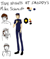 Mike Schmidt concept [FNaF the comic] by CreepyCheeseCookie