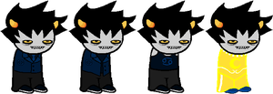 SD - Azure Karkat Alt Outfits by Shadowgate31