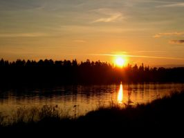 Sunset in Sweden by WhistlingWolf13