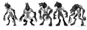 Armored Wolves Devlopment Sketches by Ammonite-Amy