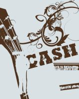 Johnny Cash book cover by ColeTrain