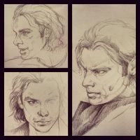 Mitchell Sketches by JuliaFox90