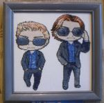 Chibi Dean and chibi Sam by Ola-l