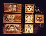 Zelda pyrography trinket boxes by foxy-design1