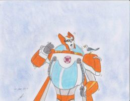a seagull on your shoulder Blades tfs rescue bots by ailgara