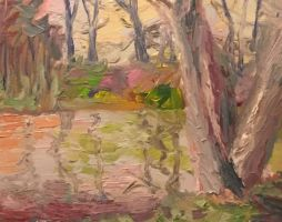 Copy of impressionist painting from book tutorial by econdon
