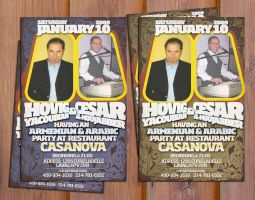 flyer for casanova by sounddecor