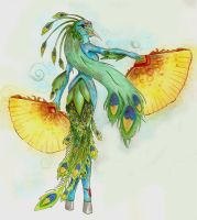 Peacock Woman by White-Nephilim