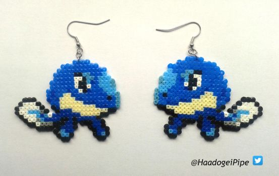 Lapwag (Lapras + Poliwag fusion) Earrings by Haadogei