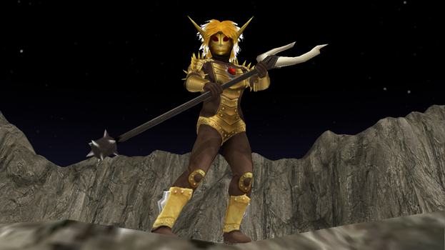 [MMD DL] Ultra Kaiju - Alien Babalou by BigJohnnyCool