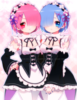 Rem and Ram by Pikiru