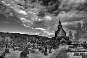 Heddal church by rabbiten