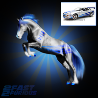 2 Fast 2 Furious Skyline Horse by Tigra1988
