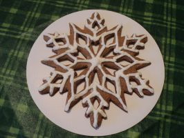 gingerbread snowflake by Brookette