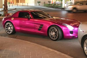 Purple Mercedes SLS AMG by ramyk