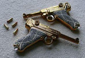 Ashford Gold Lugers by ZombieHunt3r