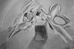 Cow Skull by TheInkgirl
