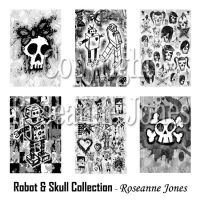 Robot and Skull Collection by artamatikrose