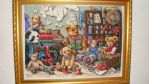 Teddy workshop cross stitch by Anim-Soul