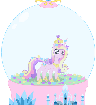 The Snow Globe of Princess Cadance by Rose-Beuty