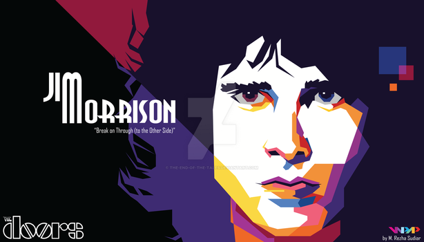 Jim Morrison of The Doors in WPAP by The-End-of-the-Tales