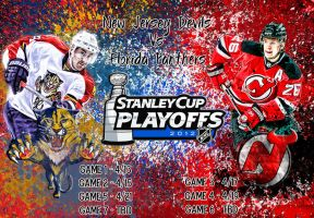Florida Panthers Vs New Jersey Devils by Sammzor
